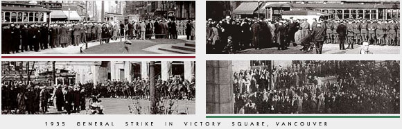1935 General Strike in Victory Square, Vancouver